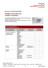Technical data sheet metal waterstop Fradiflex® resistance table